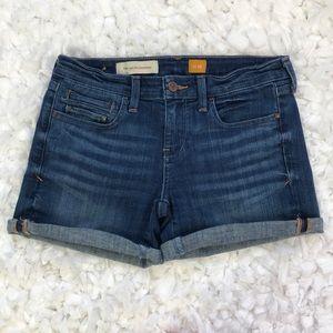 Pilcro and the Letterpress roll hem denim shorts